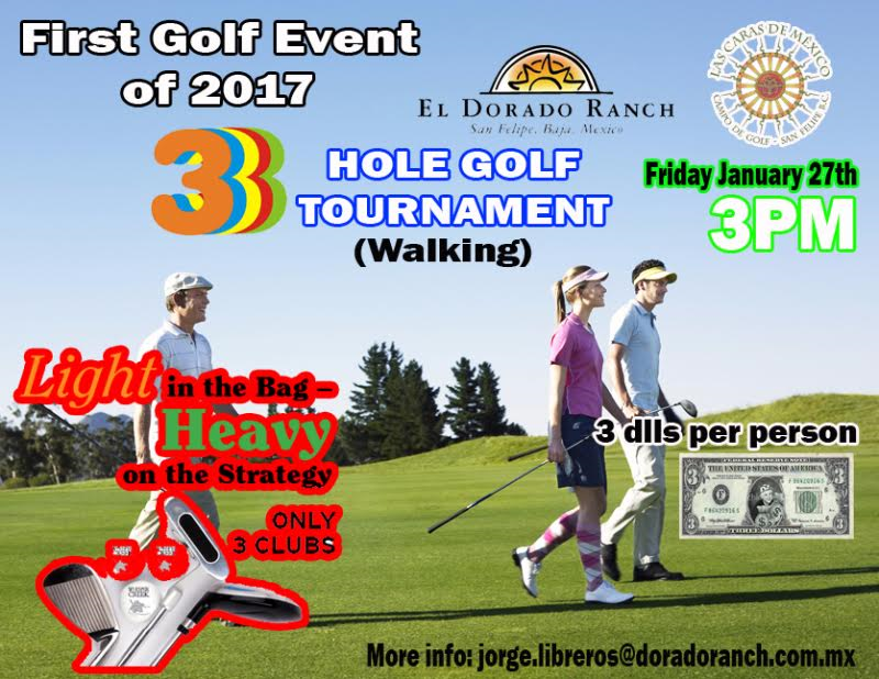 3 hole golf event